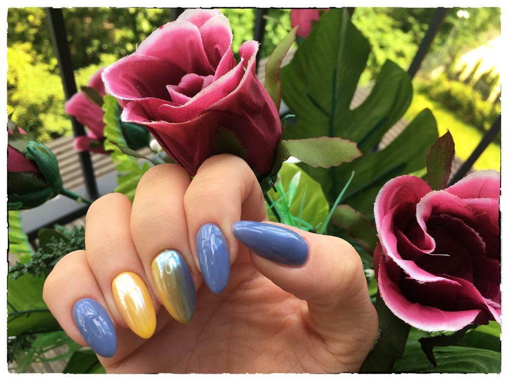 Lakiery hybrydowe Claresa NOWA FORMUŁA – test kolorów Pink Dolphin (503) i Blue Rabbit (701)