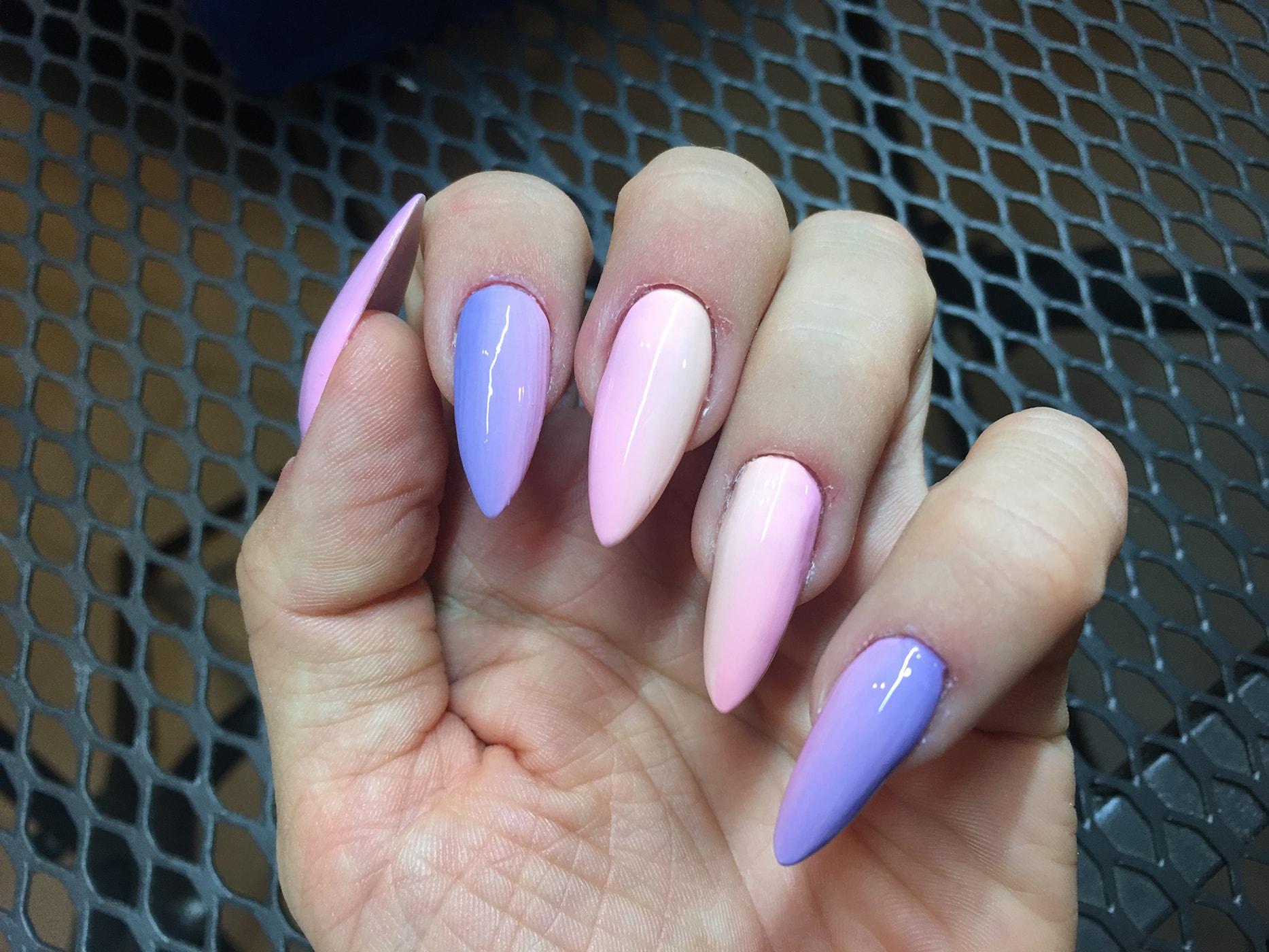 Pastelowe Słodziaki Ombre Tricky Nails