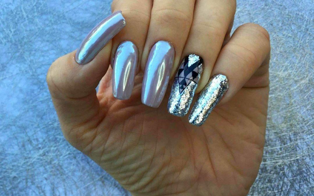Naklejki Ze Stempli Kolorowane Hybryda I Platki Alu Tricky Nails