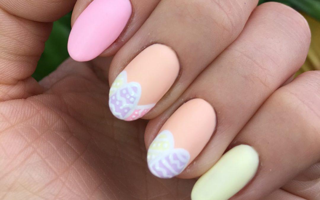 Prześliczny pastelowy manicure hybrydowy na Wielkanoc