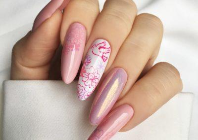 tricky-nails-rozowe-pink-walentynki-syrenka