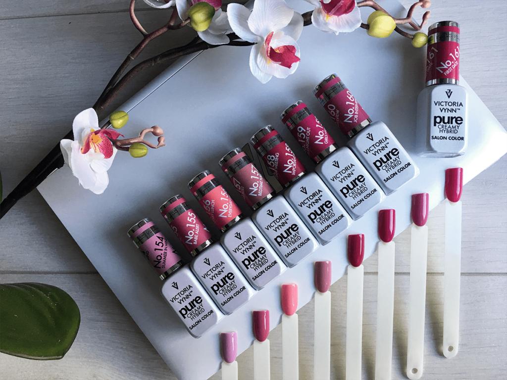 Kiss Collection – nowa kolekcja lakierów Pure Creamy Hybrid od Victoria Vynn, czyli róże i fiolety na lato 2019