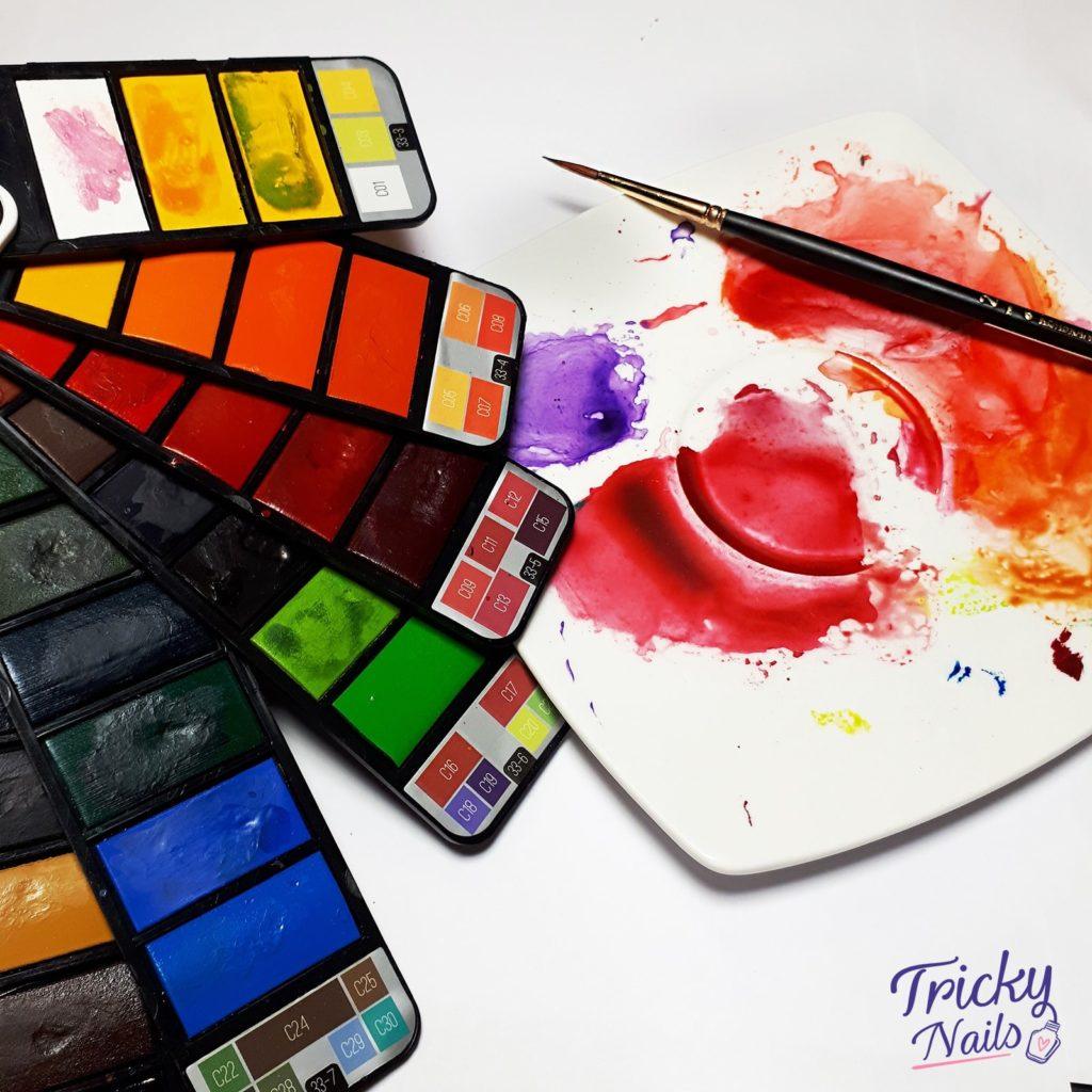 Akwarele – jak malować akwarelami na paznokciach krok po kroku? Jakie akwarele wybrać?